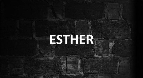 Significado de Esther y su origen