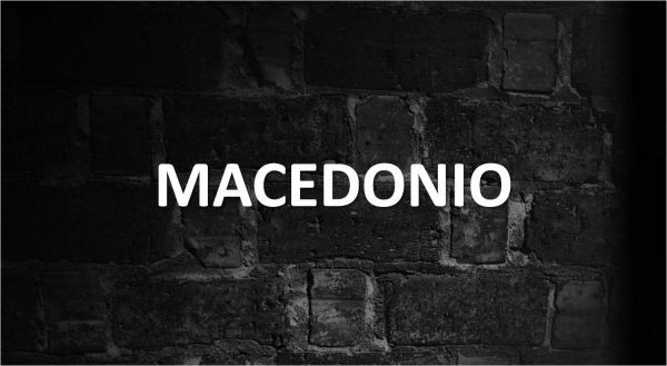 Significado de Macedonio